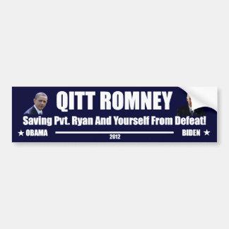 Qitt Romney Autoaufkleber
