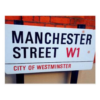 <QiYao> Manchester-Straße W1 Postkarte