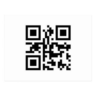 QR Barcode: Haben Sie einen schönen Tag! Postkarte
