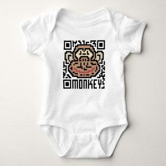 QR Code der Affe Baby Strampler