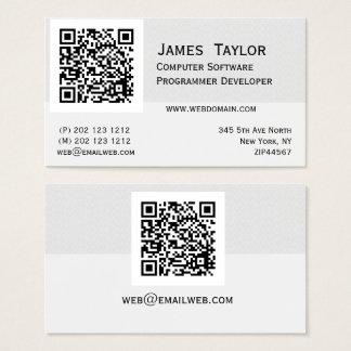 QR Code-eleganter Computerprogrammierer | Visitenkarte