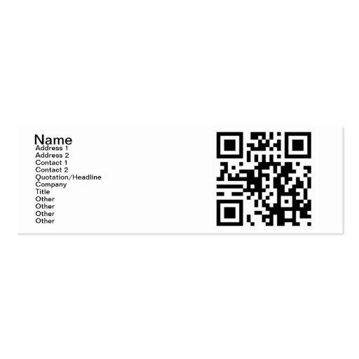 QR Code - ja bin ich Single! Visitenkarten Vorlage