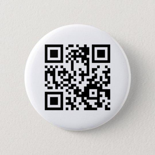QR-Code Knopf Runder Button 5,7 Cm