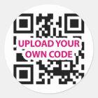 QR Code kundengerecht Runder Aufkleber