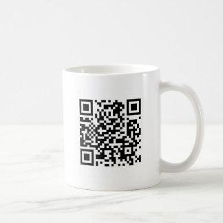 QR Code machen die Welt einen besseren Platz mit Kaffeetasse
