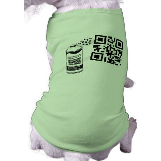 QR Code-Spray-Farben-Haustier-Shirt-Schablone Top