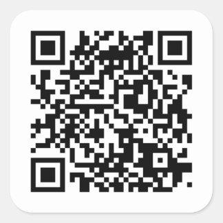 QR-Code Sticker/Aufkleber Quadrat-Aufkleber