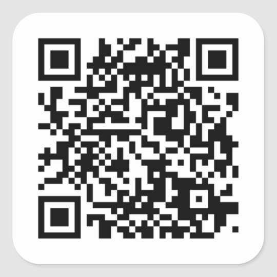 QR-Code Sticker/Aufkleber Quadratischer Aufkleber