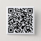 QR kodierter Knopf - kundengerecht Quadratischer Button 5,1 Cm