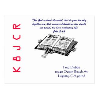 QSL Karte mit Bibel
