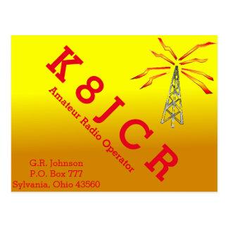 QSL Karten-goldene Steigung, Turm u. Blitzbolzen Postkarte