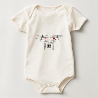 Quadcopter Drohne-Shirt Baby Strampler