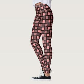 Quadrat-Druck-Muster - einfarbige Farbe Leggings