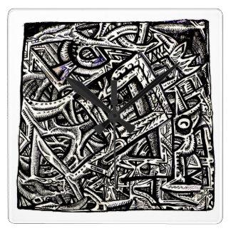 Quadrat eins, durch Brian Benson Quadratische Wanduhr