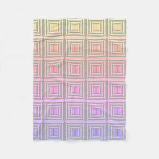 Quadrat mit Pastellen Fleecedecke