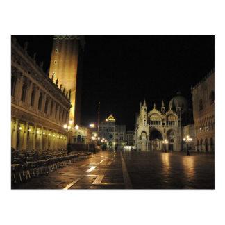 Quadrat Sans Marco, Venedig Italien (5: 30 a.m.) Postkarte