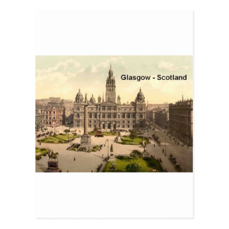 Quadrat Schottlands Glasgow George (St.K.) Postkarte