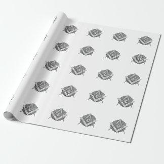 Quadrat-und Kompass-Packpapier Einpackpapier