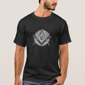 Quadrat-und Kompass-Sonnendurchbruch T-Shirt