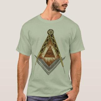 Quadrat und umgehen alles sehende Auge T-Shirt