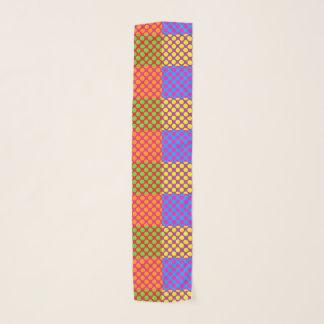 Quadrate und Punkt-Chiffon- Schal