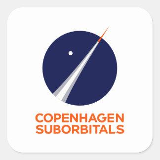 Quadratische Aufkleber mit Logo Kopenhagens