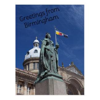 Quadratische Birmingham Postkarte Victorias
