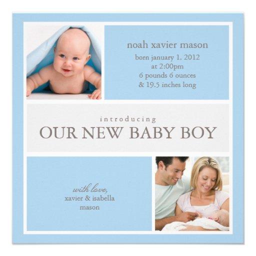 Quadratische Geburts-Mitteilung der Collagen-| Ankündigungen