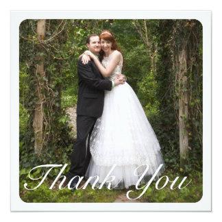 Quadratische große Foto-Hochzeit danken Ihnen im Quadratische 13,3 Cm Einladungskarte