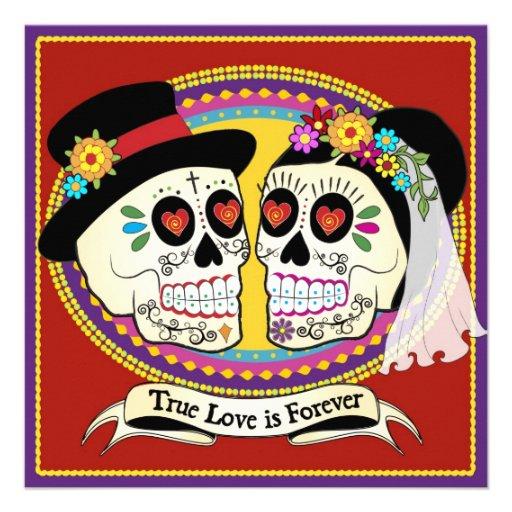 Quadratische Hochzeits-Einladung Los Novios