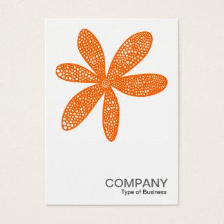 Quadratische Orange des Foto-0210 - hübsche Blume Visitenkarte