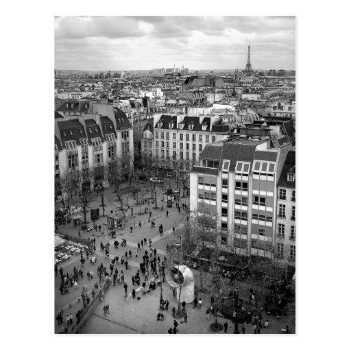 Quadratische Postkarte Pompidou