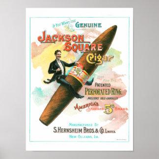 Quadratische Zigarre Jacksons Poster