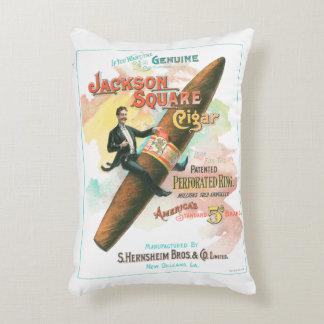 Quadratische Zigarre Jacksons Zierkissen