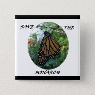 Quadratischer Knopf 2 Zoll, Monarch-Art #1 Quadratischer Button 5,1 Cm