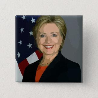 Quadratischer Knopf Hillary Clinton-Wahl-2016 Quadratischer Button 5,1 Cm