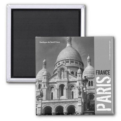 Quadratischer Magnet Basilique du Sacré-Cœur Paris Kühlschrankmagnet