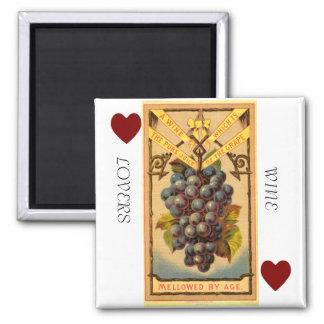Quadratischer Magnet der Weinliebhaber