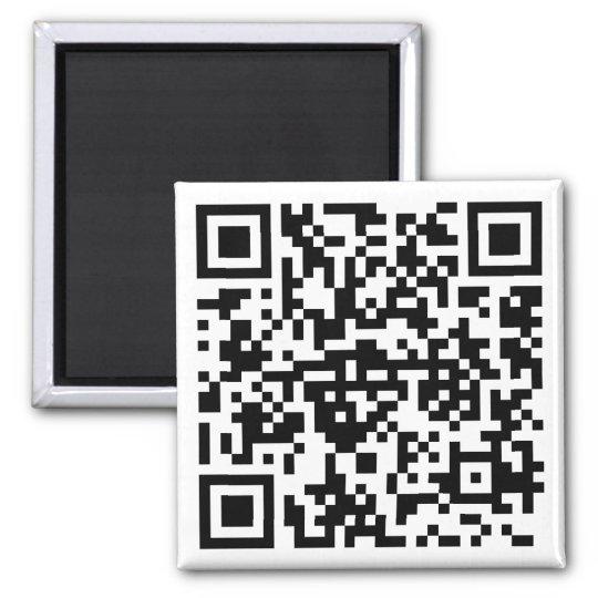 Quadratischer Magnet mit QR-Code