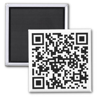 Quadratischer Magnet mit QR-Code Magnets