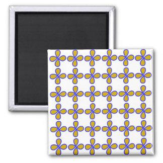 Quadratischer Magnet Willkommen/5,1 cm