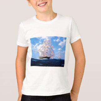Quadratischer Rigger in Meer T-Shirt