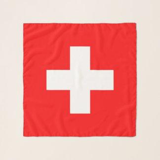 Quadratischer Schal mit Flagge von der Schweiz