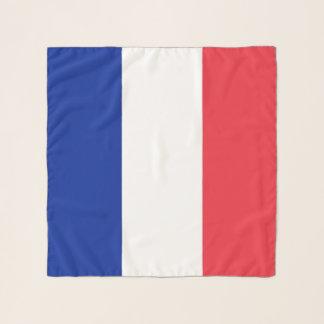 Quadratischer Schal mit Flagge von Frankreich