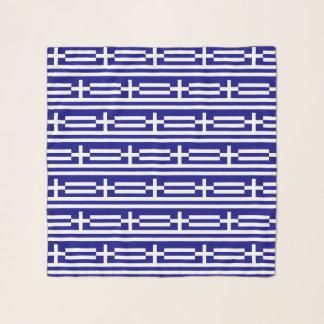 Quadratischer Schal mit Flagge von Griechenland