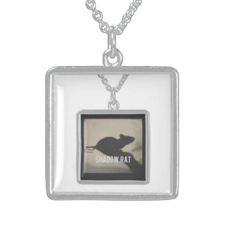 Quadratischer Sterlingsilber-Anhänger/Halskette Sterling Silberkette