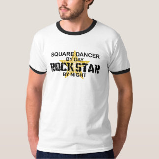 Quadratischer Tänzer-Rockstar bis zum Nacht T-Shirt