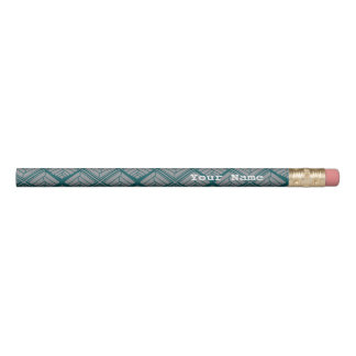 Quadratisches Blatt-Muster-aquamarine neutrale Bleistift 1