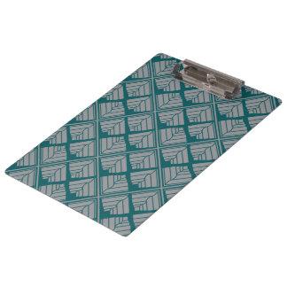 Quadratisches Blatt-Muster-aquamarine neutrale Klemmbrett