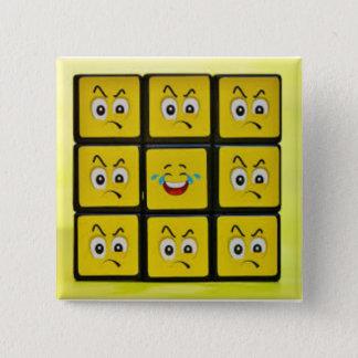 """quadratisches emoji stellt 5,1 cm (2"""") das quadratischer button 5,1 cm"""